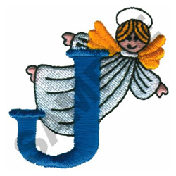 ANGEL J embroidery design