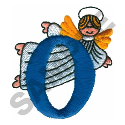 ANGEL O embroidery design