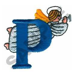 ANGEL P embroidery design