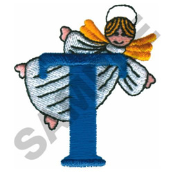 ANGEL T embroidery design