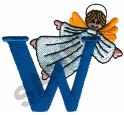 ANGEL W embroidery design