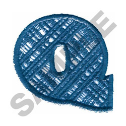 PLAID Q embroidery design