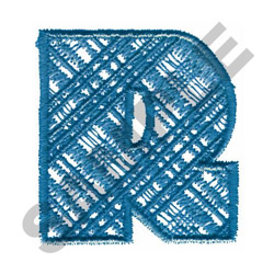 PLAID R embroidery design