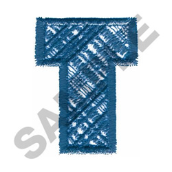 PLAID T embroidery design