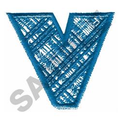 PLAID V embroidery design