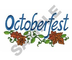 OCTOBER FEST embroidery design