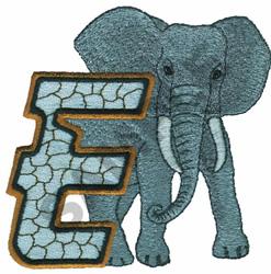 WILDLIFE ELEPHANT-E embroidery design