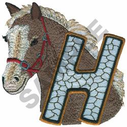 WILDLIFE HORSE-H embroidery design