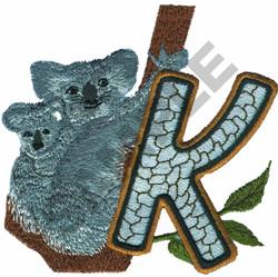 WILDLIFE KOALAS-K embroidery design