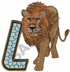 WILDLIFE LION-L embroidery design