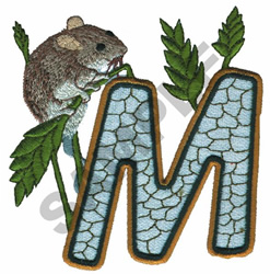 WILDLIFE MOUSE-M embroidery design