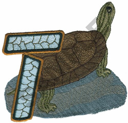 WILDLIFE TURTLE-T embroidery design