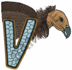 WILDLIFE VULTURE-V embroidery design