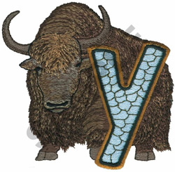 WILDLIFE YAK-Y embroidery design
