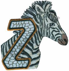 WILDLIFE ZEBRA-Z embroidery design