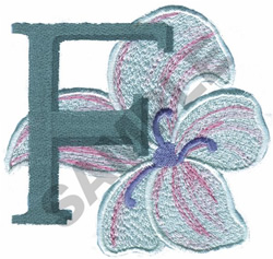 FLORAL II - F embroidery design