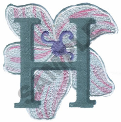 FLORAL II - H embroidery design