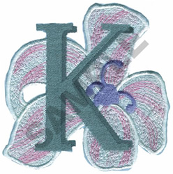 FLORAL II - K embroidery design