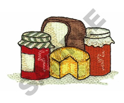BREAD, BUTTER AND JAM embroidery design