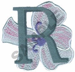 FLORAL II - R embroidery design