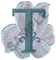 FLORAL II - T embroidery design