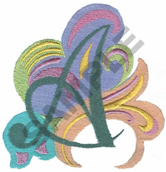 ABSTRACT-A embroidery design