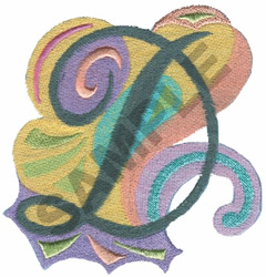 ABSTRACT-D embroidery design