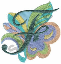ABSTRACT-F embroidery design
