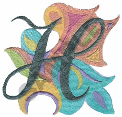 ABSTRACT-H embroidery design
