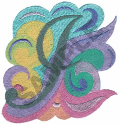 ABSTRACT-I embroidery design