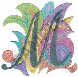 ABSTRACT-M embroidery design