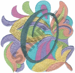 ABSTRACT-O embroidery design