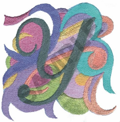 ABSTRACT-Y embroidery design
