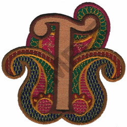PAISLEY II-T embroidery design