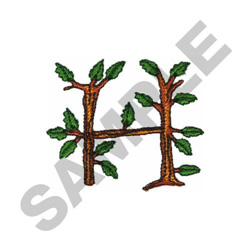 TREE - H embroidery design