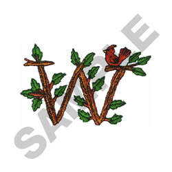 TREE - W embroidery design