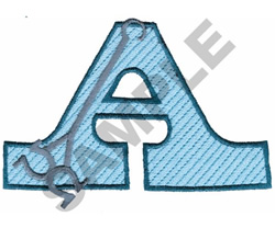 WESTERN A embroidery design