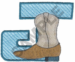 WESTERN J embroidery design