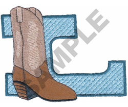 WESTERN L embroidery design