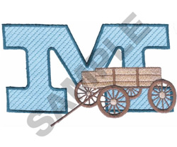 WESTERN M embroidery design
