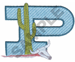 WESTERN P embroidery design