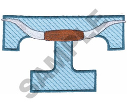 WESTERN T embroidery design