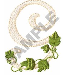 VINE G embroidery design