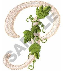 VINE P embroidery design