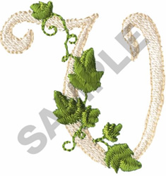 VINE V embroidery design