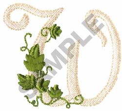 VINE W embroidery design