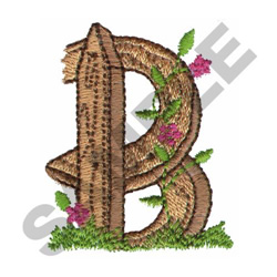 FLORAL FENCE POST - B embroidery design