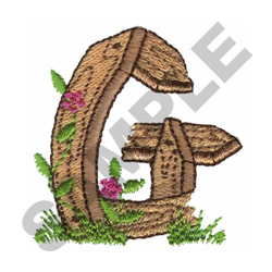 FLORAL FENCE POST - G embroidery design