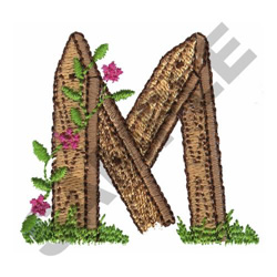 FLORAL FENCE POST - M embroidery design