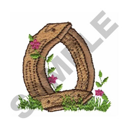 FLORAL FENCE POST - O embroidery design